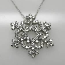 SNOWFLAKE PENDANT IN 14K WHITE GOLD WITH 3/8 CARAT DIAMONDS RETAIL $1999