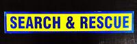 Search & Rescue Fluorescent Self Adhesive Sticker Sign
