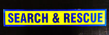 Search & Rescue Fluorescent Magnetic Warning Sign