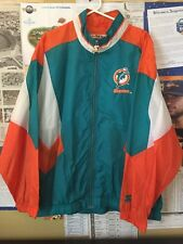 Miami Dolphins Vtg Starter NFL Team Collection Zip-Front Sewn Patch Jacket XL
