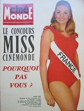 CINEMA POSTER MARILYN MONROE DALIDA EASTWOOD TONY ROME   N° 1740 CINEMONDE 1968