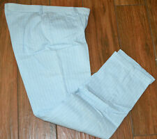 New RIDERS Size 6 M Womens Powder Blue With White Stripes Jeans Pants