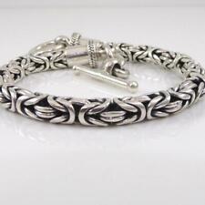 """Suarti Sterling Silver Byzantine Woven Bracelet 7.25"""" 6mm LFJ3"""