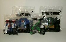 4X McDonald's Transformers Happy Meal Toys 2016 Set Optimus #3 #4 Grimlock #7 #8