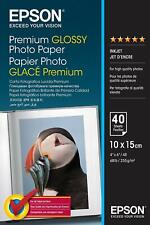 "£14 EPSON Premium Glossy 4""X6"" 10x15 Inkjet Printer Photo Paper 255gsm 40 Sheets"