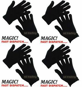 30 Pairs Black Magic Gloves Unisex Men Ladies Winter one size Wholesale Job lot