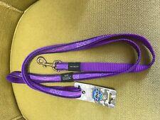 Rogz Dog Lead Leash Beach Bum Purple Chrome Large 6 ft Spaniel Doberman Boxer