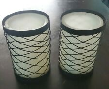 Battery Operated Pillar Candles with Rustic Holder