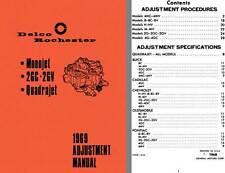 Delco Rochester 1969 - Delco Rochester 1969 Adjustment Manual (Monojet, 2GC - 2G