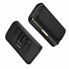 for Huawei Y6 Prime (2018) Metal Belt Clip Holster with Card Holder in Textil...