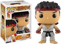 Calle Fighter Figura Colección Ryu 10cm FUNKO Pop 137 Original Nueva Raro