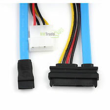 22Pin( 7p + 15p ) to 1 Sata 7pin Data SAS/SATA + 4pin IDE power Cable 70cm