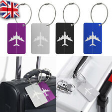 Aluminium Luggage Tags Suitcase Label Name Address ID Baggage Bag Tag Travel D