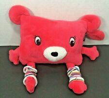 Huggles Plush with Fleece Blanket Pink Monster~Blanket hides inside plush