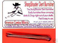 POOL CUE CARE - POOL CUE DENT BURNISHER REMOVE DENTS & DINGS FROM POOL CUE SHAFT