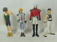 Gundam Mobile Wing Pilot Action Figure Lot Zechs Chang Heero Bandai 2000 RARE