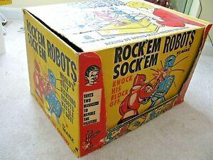 Vtg MARX ROCK'EM SOCK'EM ROBOTS in Box With Instructions Vibrant Colored Box