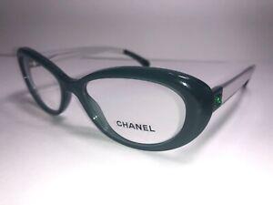 CHANEL Eyeglass Frames 3275 c. 1447 Women's Glass Tortoise Green Clear New/Great