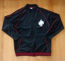 Ecko Mens XL Black Full Zipper Royal Flush Spade Pocket Long Sleeve Track Jacket