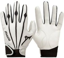 1 Pair Mizuno 330286 Vintage Pro X-Large White Adult Batting Gloves New!