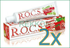 2x R.O.C.S. Teens Wild Strawberries Toothpaste Remineralizing Oral Care ROCS