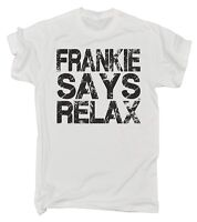 Frankie Says Relax Distressed Logo MENS T Shirt - birthday retro fancy dress 80s