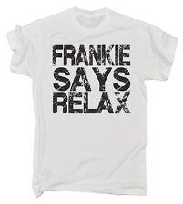 Frankie Says Relax Distressed Logo MENS T Shirt - birthday retro fancy dress 80s