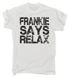 Frankie Says Relax Distressed Logo MENS T Shirt Christmas retro fancy dress 80s
