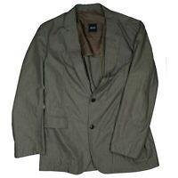 HUGO BOSS Crenko Herren Sakko Blazer Jacke Business Anzug Gr.52 L XL Braun dünn