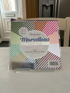 "Hunkydory Marvellous Mirri Pad 8""x8"" Stunning Stripes 220gsm"