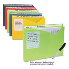"C-Line Write-On Expanding Poly File Folders 1"" Exp. Letter Assorted Colors 10/BX"