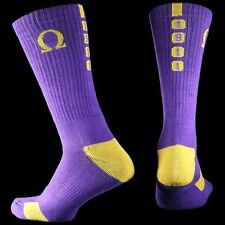 Omega Psi Phi Fraternity Dry Fit Crew Socks- New!