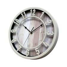 SUNBRIGHT 12 Inch Rustic Decorative Noiseless Wall Clock Silent Non-Ticking f...