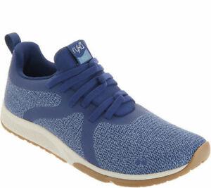 Ryka Knit Slip-on Sneakers Walking Shoes - Fizz 2 Medieval Blue 6 W
