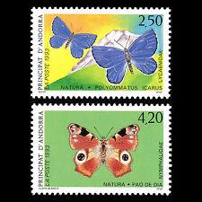 Andorra 1993 - Nature protection Butterflies Fauna - Sc 427/8 MNH