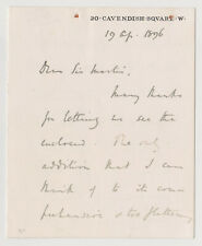 Prime Minister H.H. Asquith Signed Letter