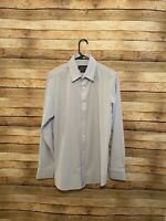 Mizzen + Main Mens Leeward Blue Label Solid Blue Button Up Shirt Medium Trim Fit