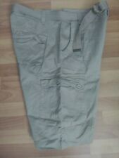 NEW $50 Khaki Multi Pockets Belted Cargo Shorts NBN Gear 40 STYLE ML TX-018SKG