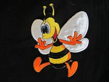 """5071S 3 1/2"""" Cartoon Bee Embroidery Iron On Appliqué Patch"""