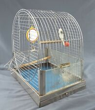 Vintage Reliance Bird Cage ~ mid-century chrome metal item