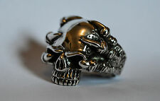 Huge Solid Sterling Silver 925 Skull Ring with Claws Size U (US 10) 30g 1.05oz