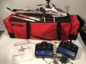 Align Trex T-rex 450 Rc Helicopter w/Radio System  Controllers & Wing Tote Case