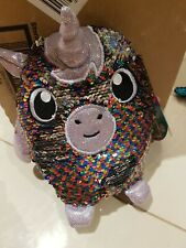 Shimmeez Reversible Sequins Plush Doll unicorn