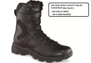 "Irish Setter Ravine Tactical 9"" Side-Zip Tactical Boots   Men's Size 8.5 D"