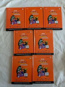 Muzzy Level 1 BBC Language Course Games Exercise Interactive CD Rom Book Set 1-7