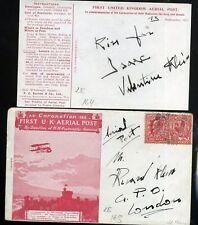 United Kingdom first flight airmail 1911