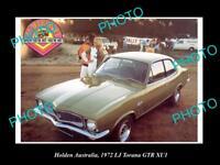 LARGE HISTORIC PHOTO OF GM HOLDEN, THE 1972 LJ TORANA XUI GTR PRESS PHOTO 2