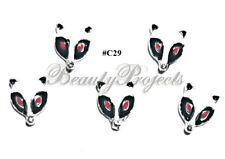 5pc Nail Art Charms 3D Nail Rhinestones Decoration DIY Raccoon Bling - C29