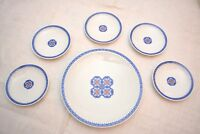 NEW Japanese Dessert Plate Set of 6 ~ Vintage Made in Japan ~ Brand New with Box