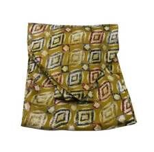 ASCOT di seta stampata giallo oro beige bianco cashe col retro stile